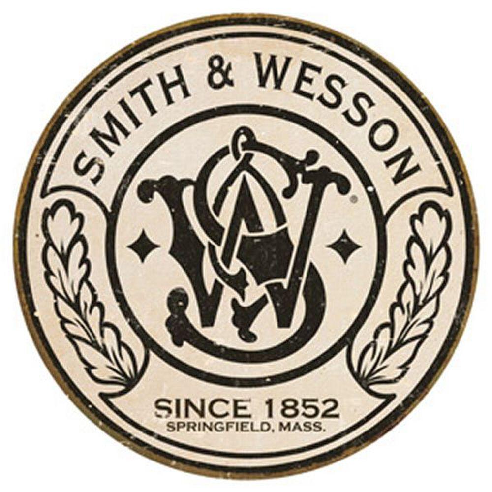 Smith & Wesson® Circle Logo Round Tin Sign