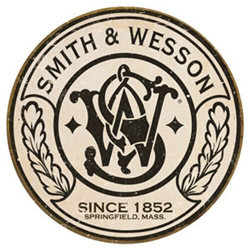 Smith & Wesson® Circle Logo Round Tin Sign