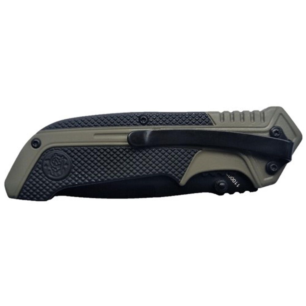 Smith & Wesson® 1100036 S.A. OD Green Drop Point Folding Knife