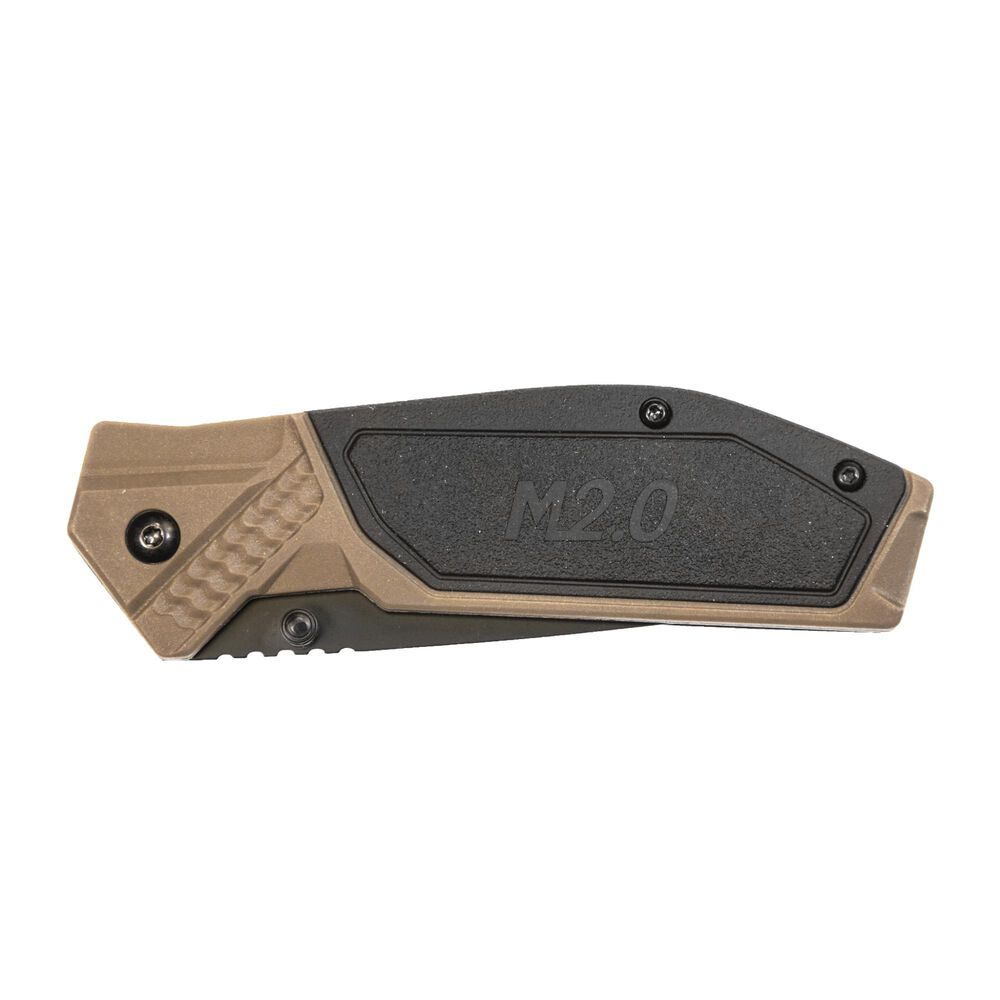 Drop Point Blade Black/FDE Handle