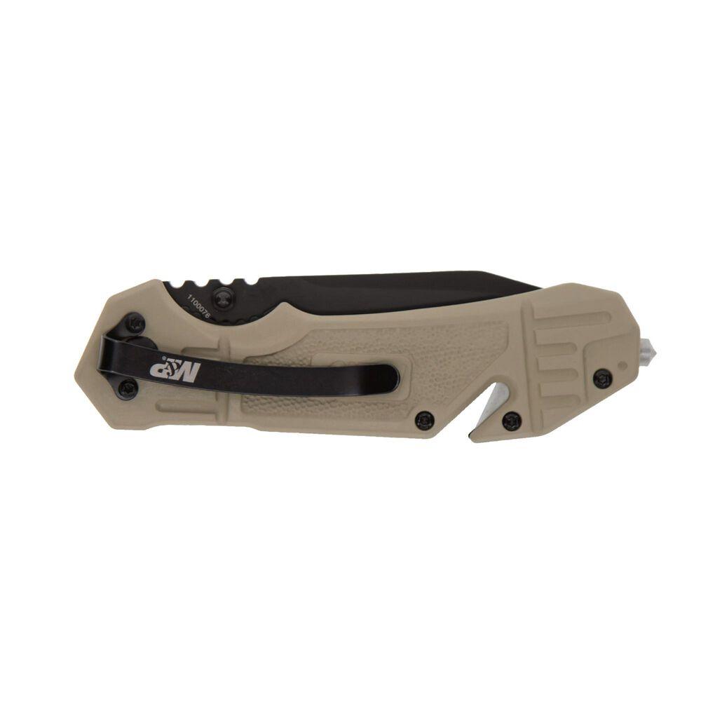 S.A. FDE Rub Alum w/Cut Liner Lock Folding Knife