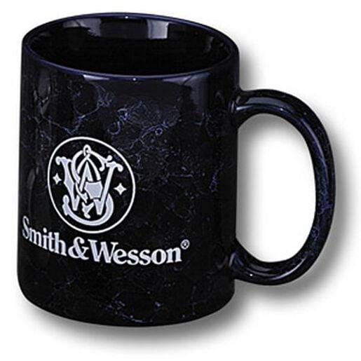 Blue Marbled Coffee Mug With Logo