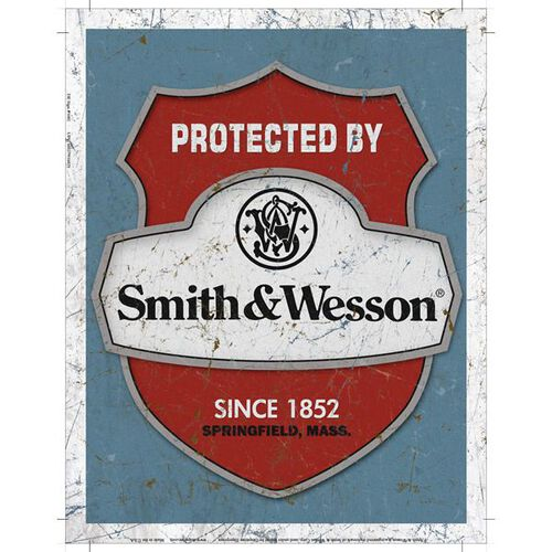 Protected By Smith & Wesson® Tin Sign