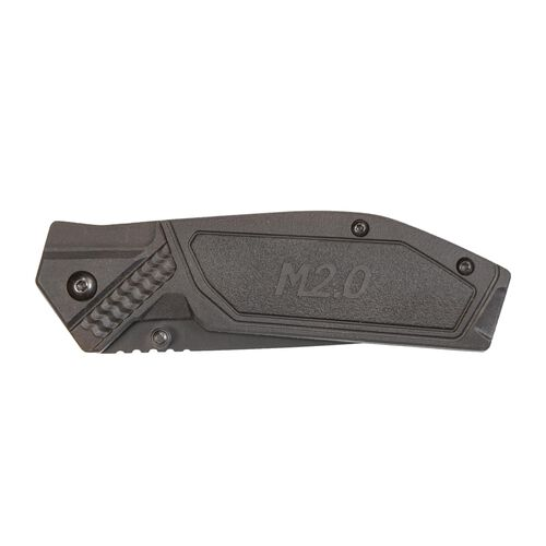 Drop Point Blade Black/Grey Handle