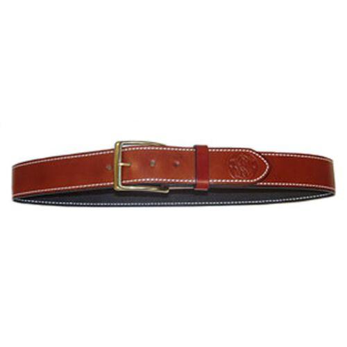 Leather Belt W/Embossed Logo
