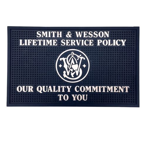 Smith & Wesson® Lifetime Service Policy Counter Mat