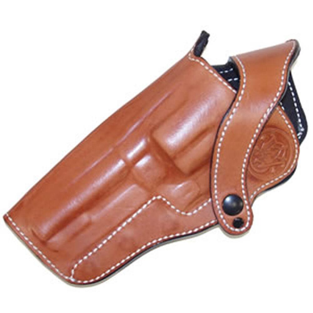 "LH M500 4"" Tan Leather Holster W/Logo"