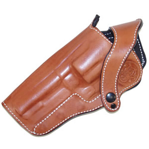 "LH M500 4"" Tan Leather Holster W/Logo"
