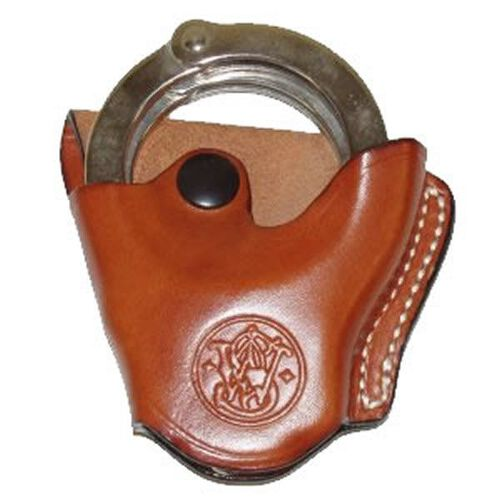 Tan Leather Smith & Wesson® Handcuff Case-Mod 100