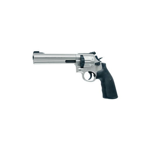 "S&W 686 Nickel Revolver .177 Cal 10RD CO2 6"" Barrel Revolver [Pellet Gun Air Pistol]"