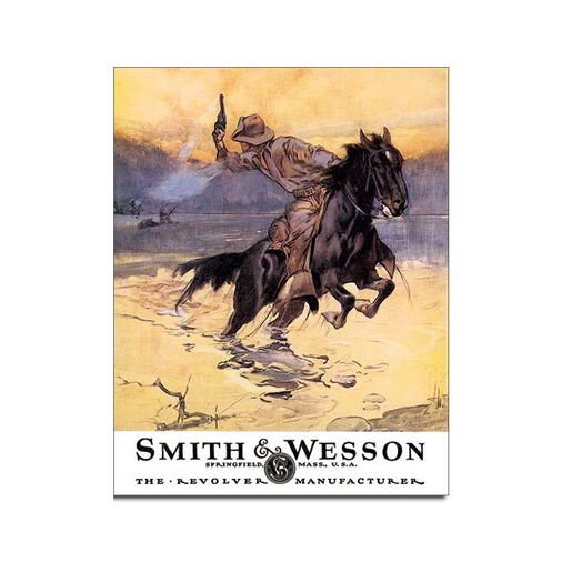 Smith & Wesson Tin Sign - Hostiles