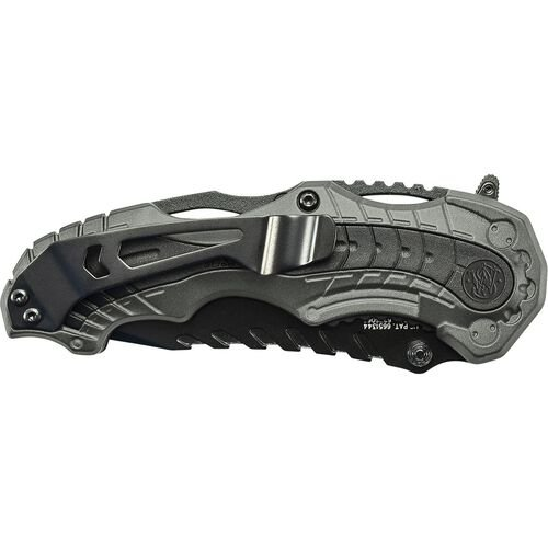 M.A.G.I.C.® Assisted Opening Liner Lock Folding Knife Clip Point Blade Aluminum Handle